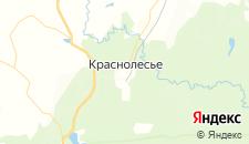Гостиницы города Краснолесье на карте
