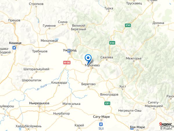 село Русское на карте