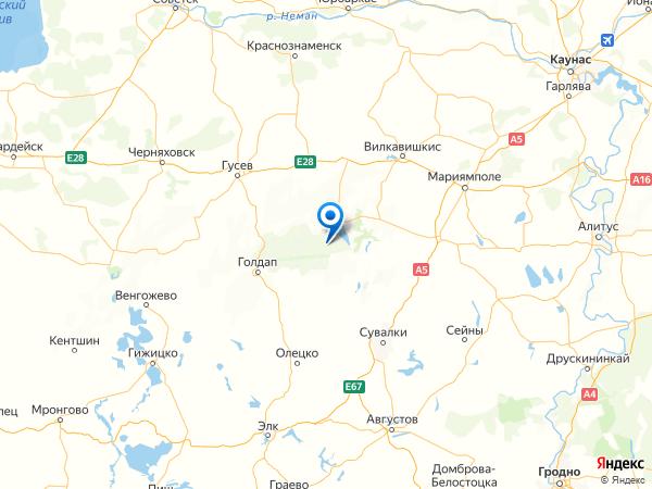 поселок Уварово на карте