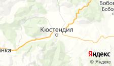 Отели города Кюстендил на карте