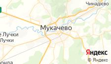 Гостиницы города Мукачево на карте