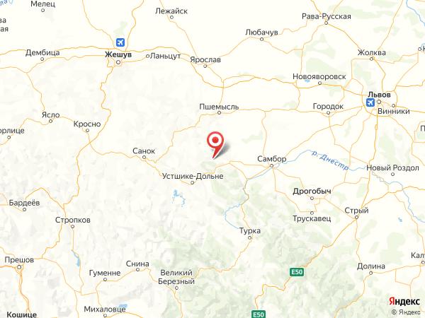 село Великое на карте
