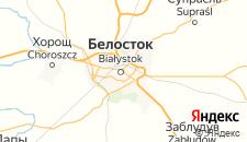 Отели города Белосток на карте