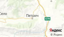 Отели города Петрич на карте