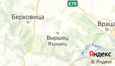 Отели города Выршец на карте