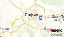 Отели города София на карте