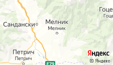 Отели города Мелник на карте