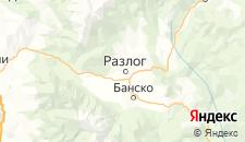Отели города Разлог на карте