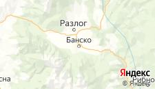 Отели города Банско на карте