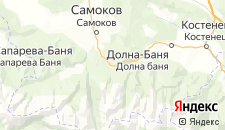 Отели города Боровец на карте