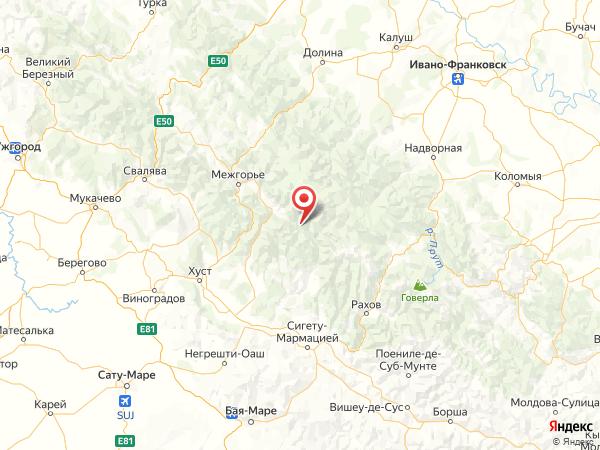 село Немецкая Мокрая на карте