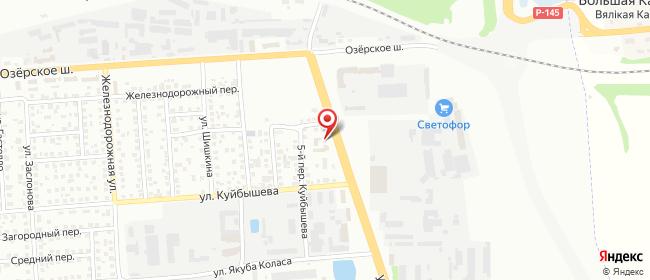 Карта расположения пункта доставки На Карского в городе Гродно