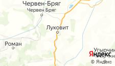 Отели города Луковит на карте
