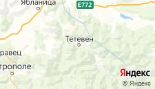 Отели города Тетевен на карте