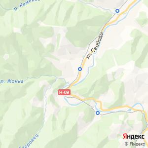 Карта города Яремче