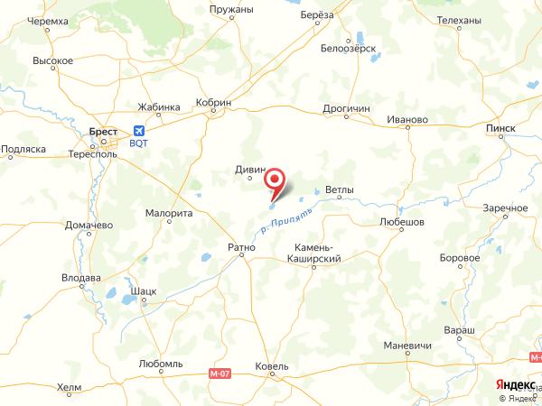 село Малое Орехово на карте