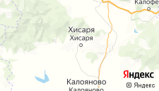 Отели города Хисаря на карте