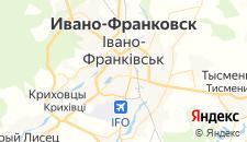 Гостиницы города Ивано-Франковск на карте