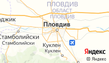 Отели города Пловдив на карте