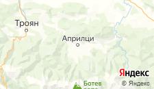 Частный сектор города Априлци на карте