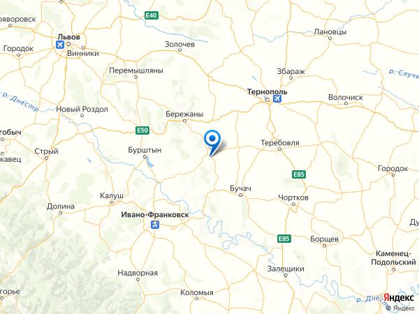 село Галич на карте