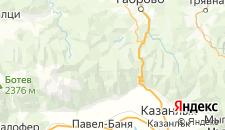 Отели города Баня на карте