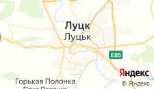Гостиницы города Луцк на карте