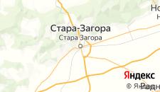 Отели города Стара Загора на карте