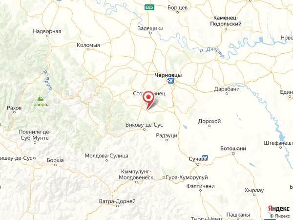 село Верхние Петровцы на карте