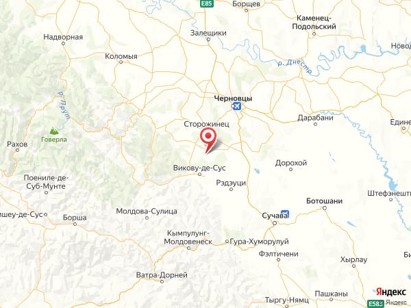 село Нижние Петровцы на карте