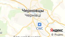 Гостиницы города Черновцы на карте