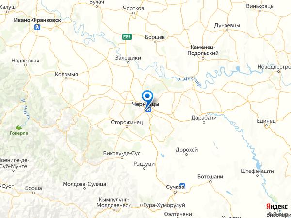 Черновцы на карте