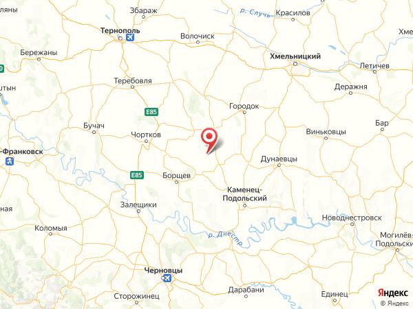 село Вишнёвое на карте