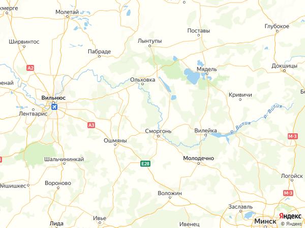 поселок Старая Рудня на карте