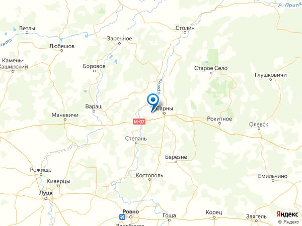 село Долгое на карте