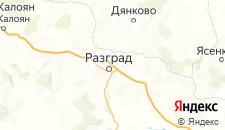 Отели города Разград на карте