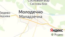 Гостиницы города Молодечно на карте