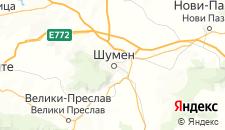 Гостиницы города Шумен на карте
