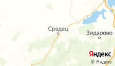 Отели города Средец на карте