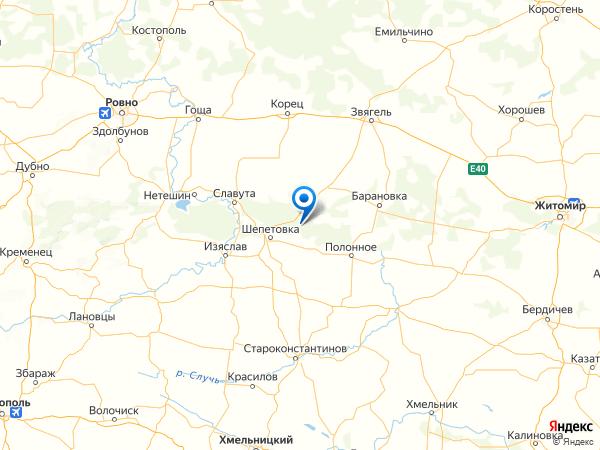 село Купино на карте