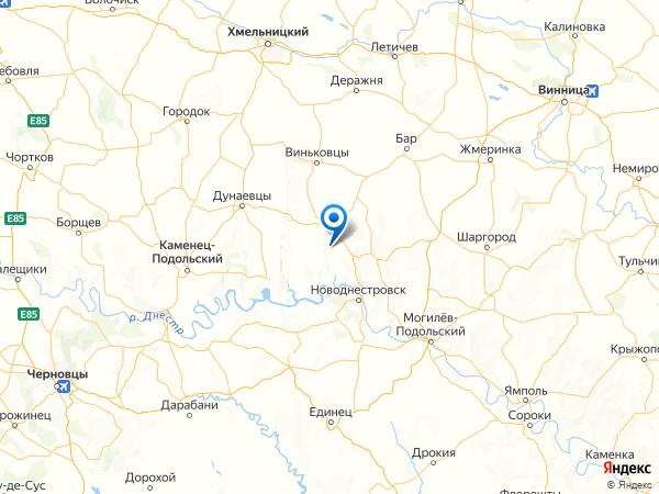 село Слободка на карте