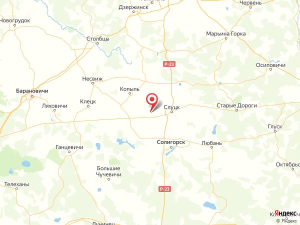 посёлок Хлебный Клин на карте