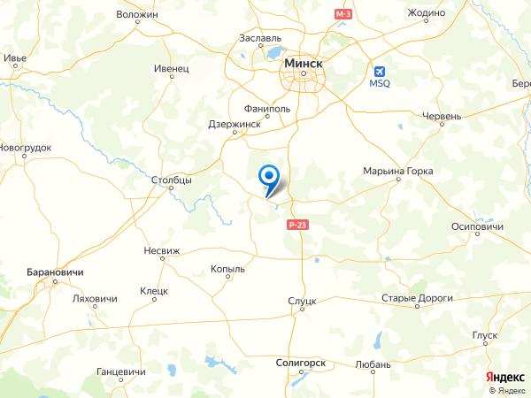 деревня Калининск на карте