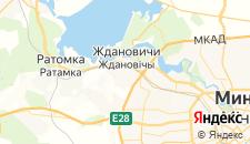 Гостиницы города Ждановичи на карте