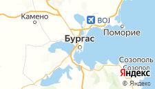 Отели города Бургас на карте