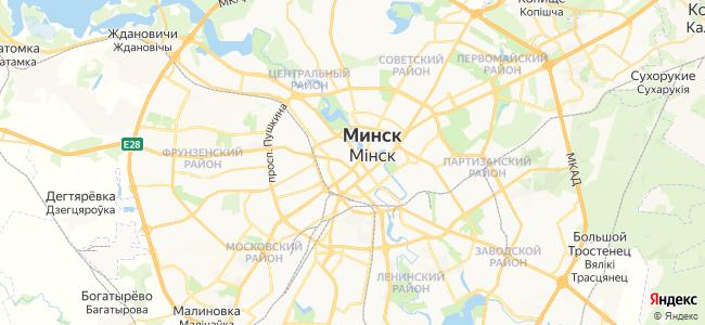 Гостиницы Минска - объекты на карте