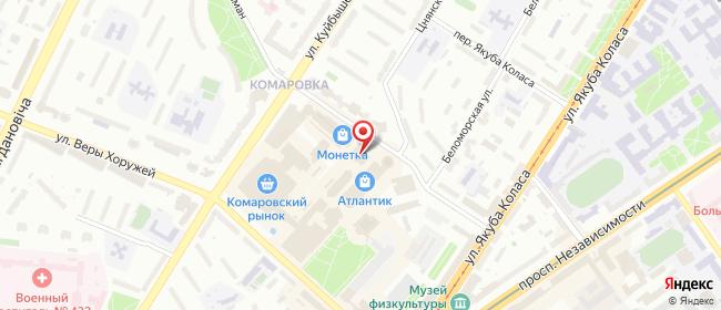 Карта расположения пункта доставки Комаровка в городе Минск