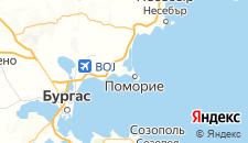 Отели города Поморие на карте