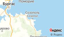 Отели города Созополь на карте