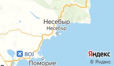 Отели города Несебыр на карте